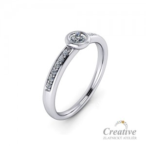Zásnubní prsten s diamanty ZSP121