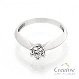 Zásnubní prsten s diamantem ZSP046