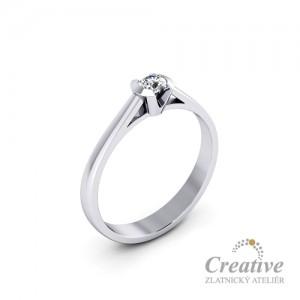Zásnubní prsten s diamantem ZSP076