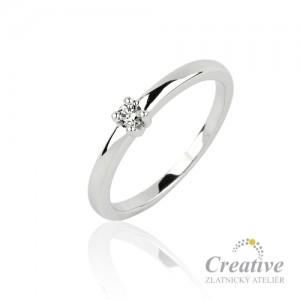 Zásnubní prsten s diamantem ZSP079