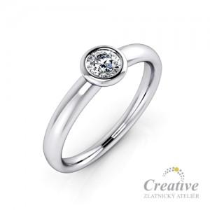 Zásnubní prsten s diamantem ZSP083
