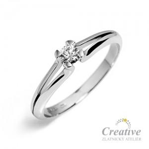 Zásnubní prsten s diamantem ZSP051