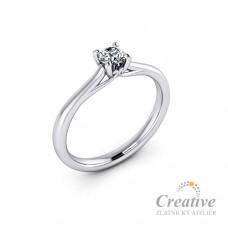 Luxusní zásnubní prsten s diamantem ZSP097