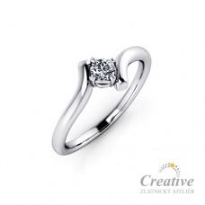 Zásnubní prsten s diamantem ZSP104