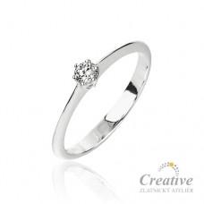 Zásnubní prsten s diamantem ZSP077