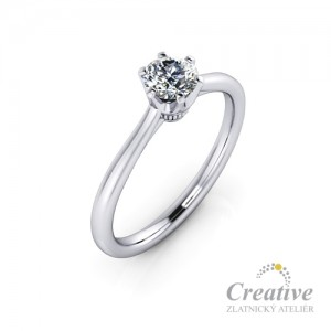 Zásnubní prsten s diamantem ZSP106