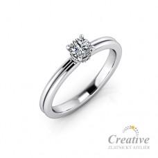 Luxusní zásnubní prsten s diamanty ZSP113