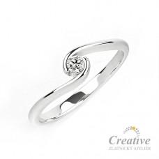 Zásnubní prsten s diamantem ZSP073