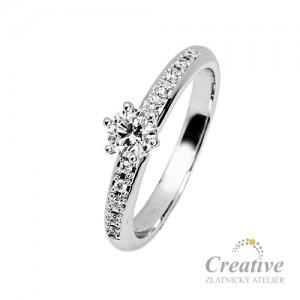 Luxusní zásnubní prsten s diamanty ZSP069