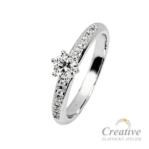 Luxusni Zasnubni Prsten S Diamanty Zsp069