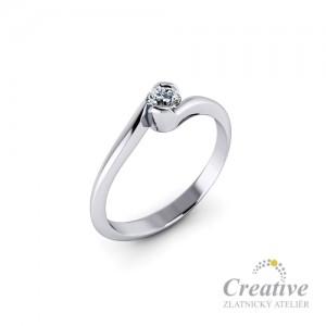 Zásnubní prsten s diamantem ZSP117