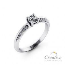 Zásnubní prsten s diamanty ZSP107