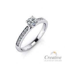 Zásnubní prsten s diamanty ZSP112