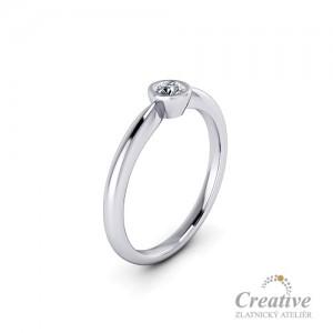 Zásnubní prsten s diamantem ZSP123