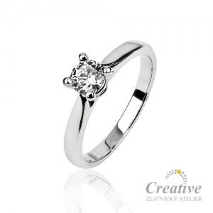 Luxusní zásnubní prsten s diamantem ZSP124