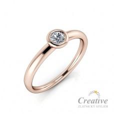 Zásnubní prsten s diamantem ZSP122